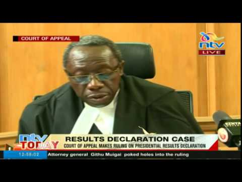 Court of Appeal upholds presidential results at constituency level are final