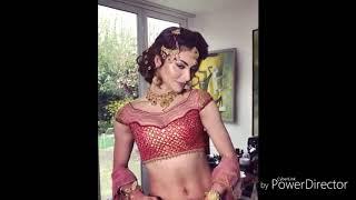 Indian Model Actress wearing bridal dress..