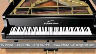 Online - live  piano lessons using skype
