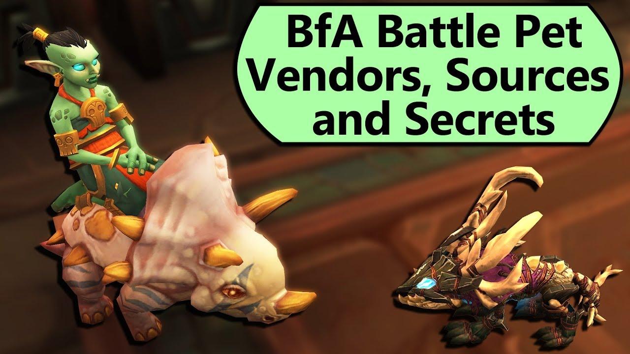 BfA Battle Pet Vendors, Sources and Secrets! Pet Battle Overview for BfA
