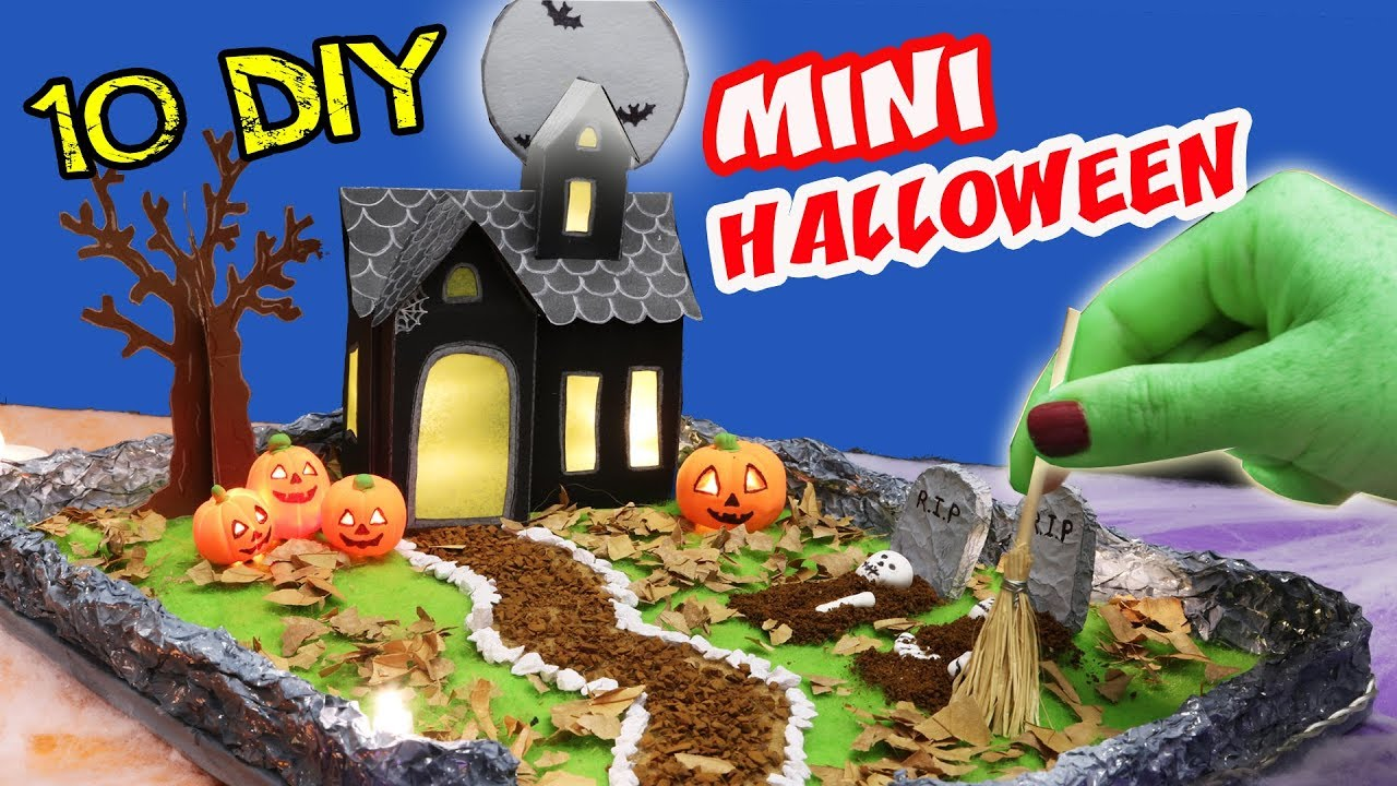 10 Diy Miniature Halloween Haunted House Zen Garden