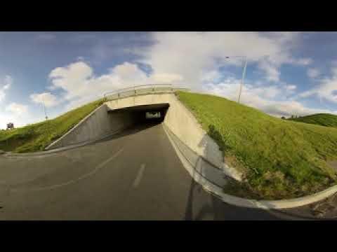 VR cycling around Reykjavik, Iceland