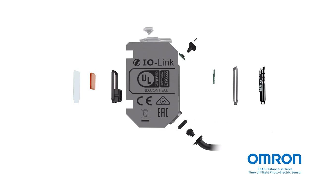 Look inside the E3AS photoelectric sensor: 3D blowout video