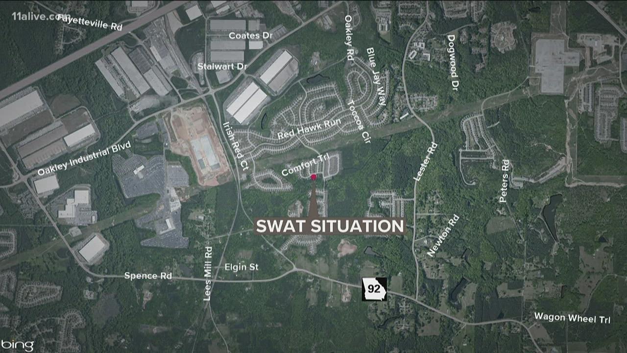 Download Clayton Co. SWAT member shoots man