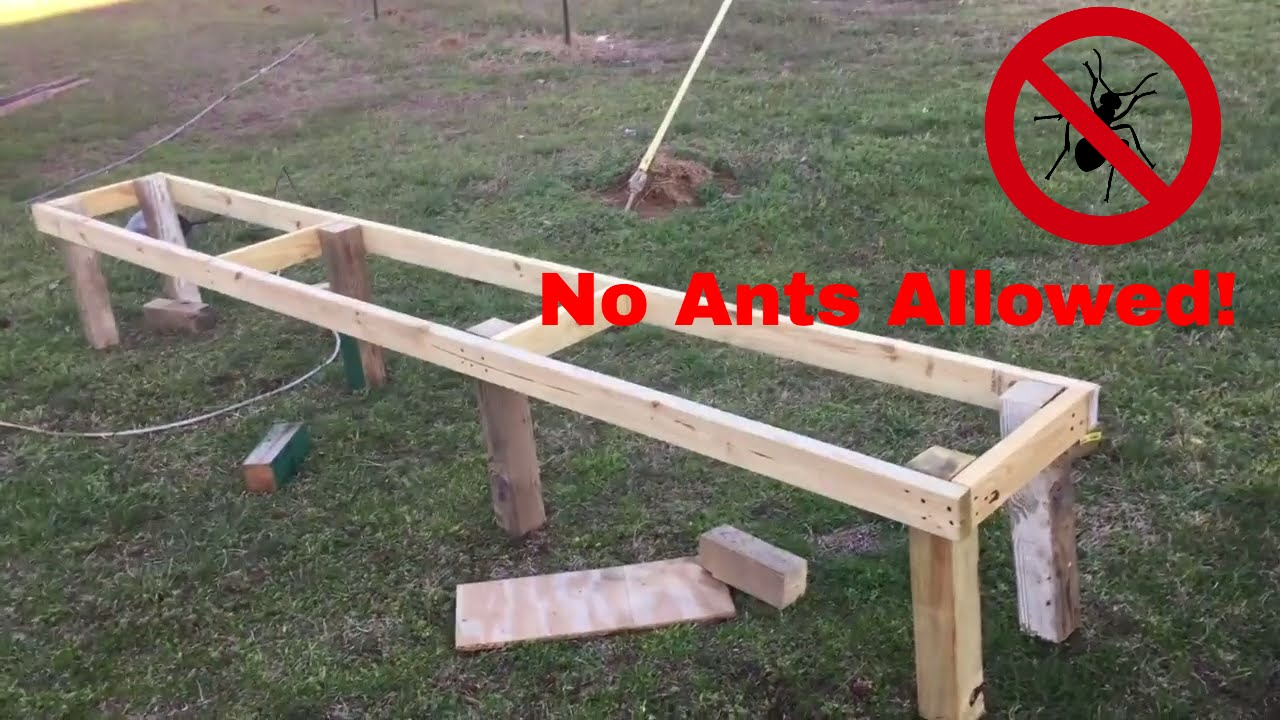 Hive Stand Designs : Tired of ants in your beehive build this ant free hive stand