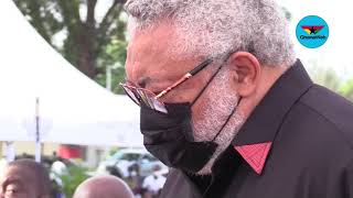 Former President Rawlings 'tearfully' pays last respect to late mother