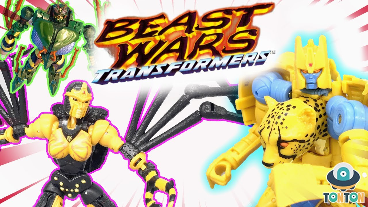 Transformer Beast Wars Stopmotion -  Kingdom Cheetor VS Blackarachnia & Waspinator