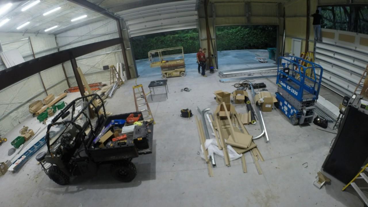 Garage doors install of my 40x60 metal building youtube garage doors install of my 40x60 metal building rubansaba