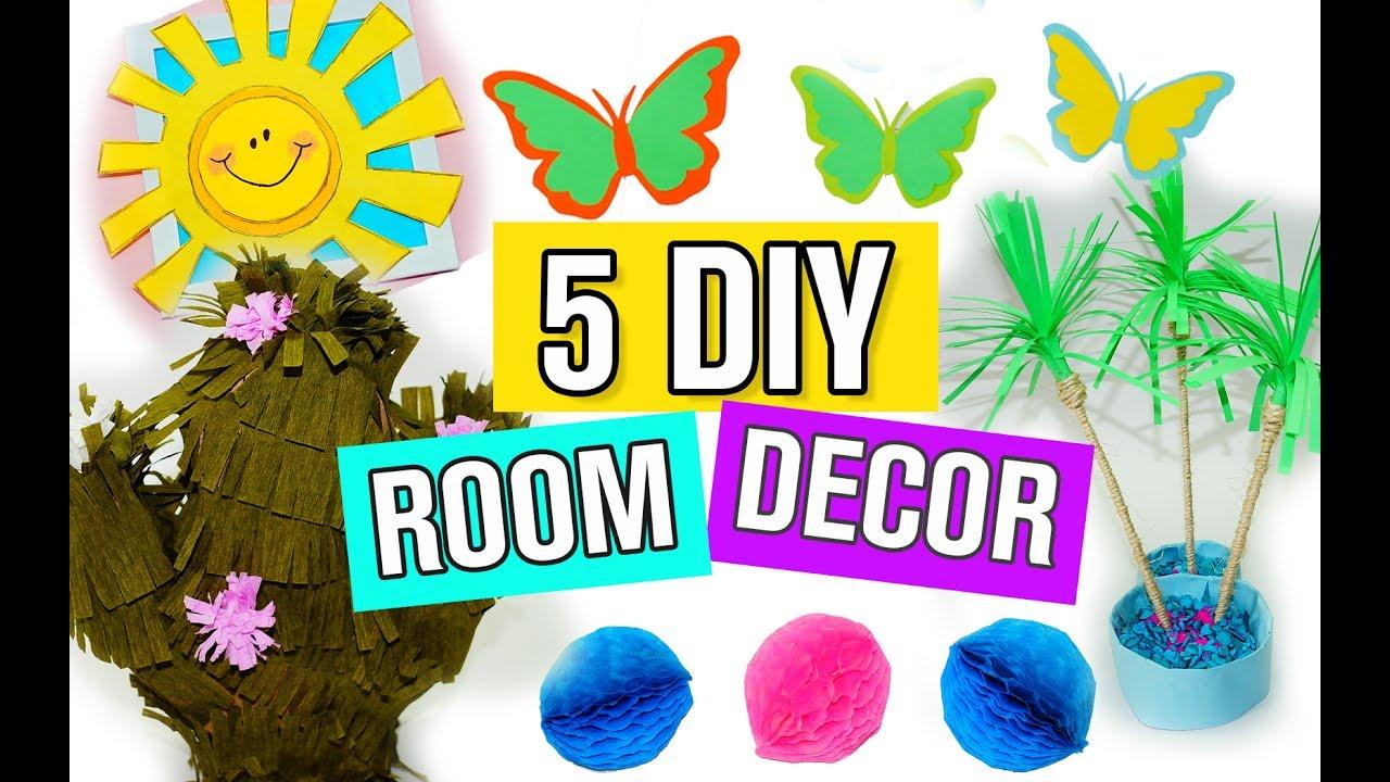5 Diy Summer Room Decor Ideas Easy And Beautiful Room Decorations For Summer Julia Diy Youtube