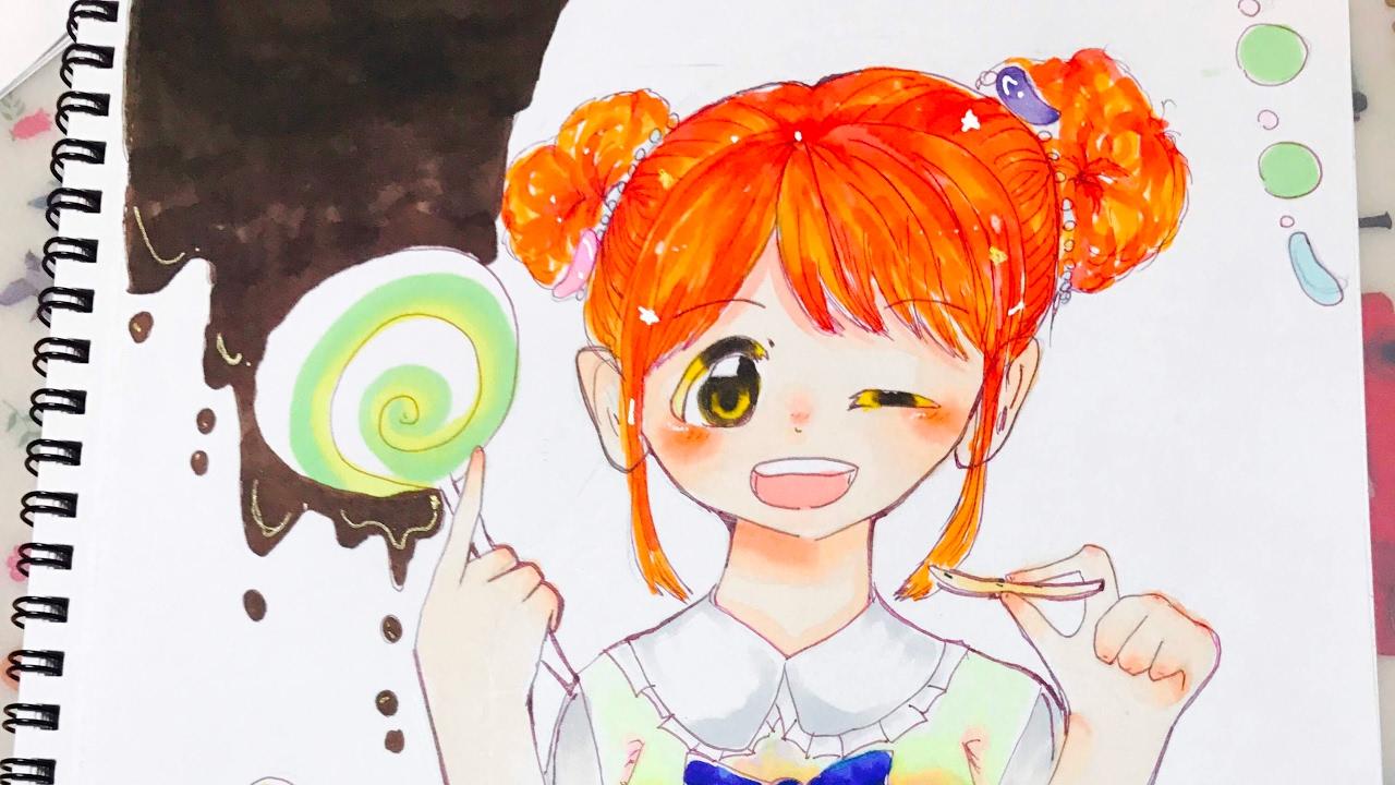 お菓子の国の女の子風に描いてみたイラストメイキング Youtube