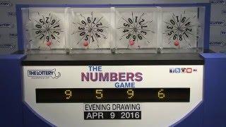 Evening Numbers Game Drawing: Saturday, April 9, 2016
