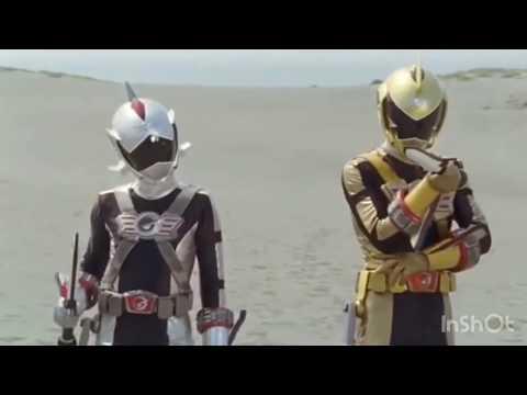炎神戦隊ゴーオンジャー29話トラウマシーン    (ゴーオンシルバーとハンマーバンキ)