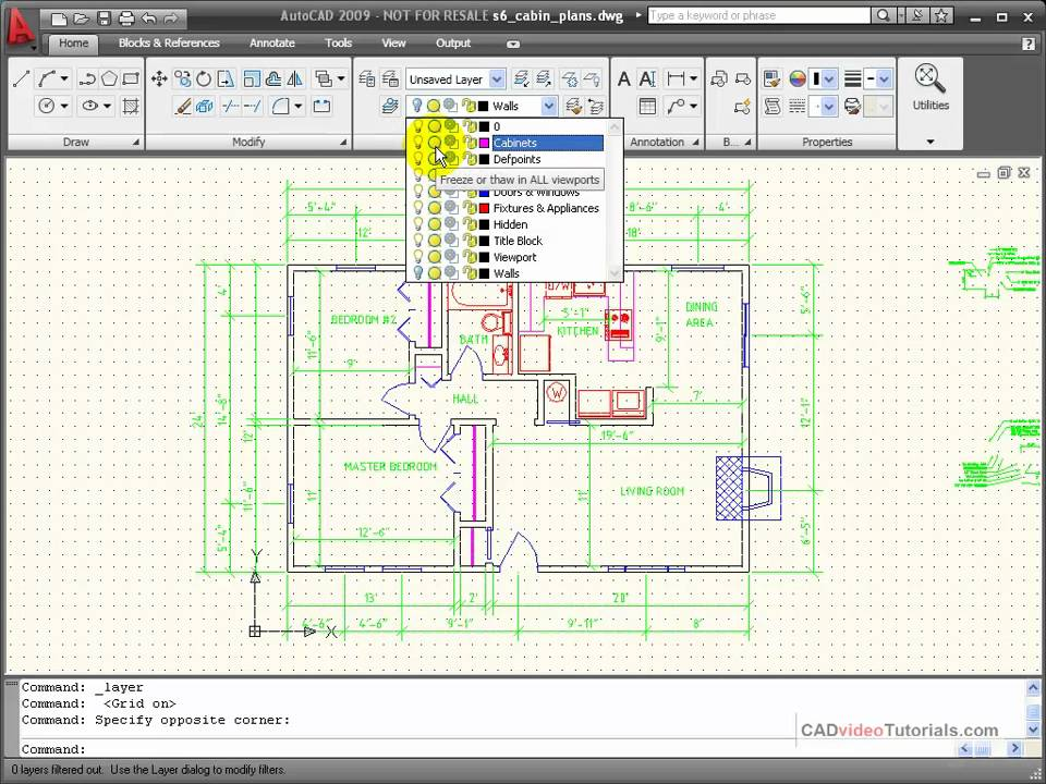 AutoCAD Tutorial - Using the Layer Properties Manager