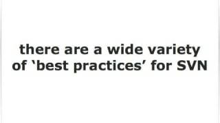 Best Practices for Subversion (SVN)
