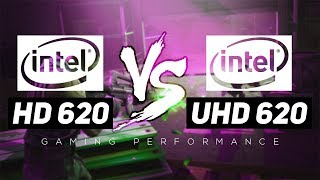 Intel HD 620 VS Intel UHD 620 - Gaming Performance!