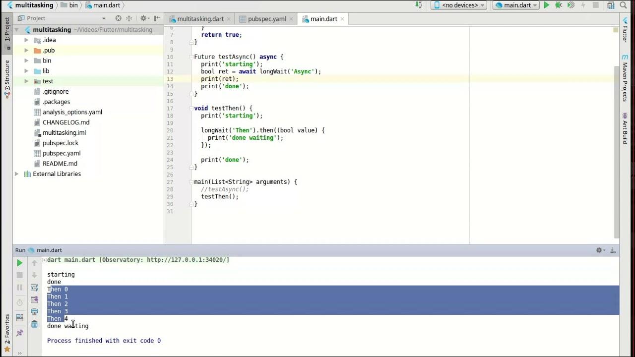 Flutter 14 - Async programming