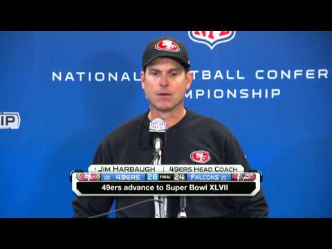Jim Harbaugh  San Francisco 49ers win.flv