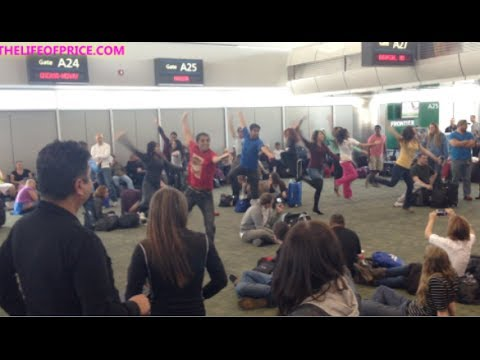 FLASH MOB IN THE DENVER, CO AIRPORT