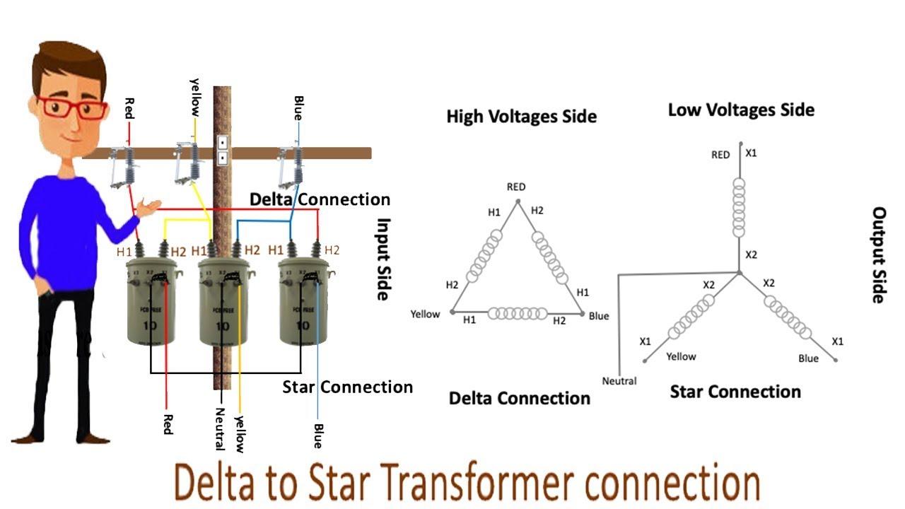 [SCHEMATICS_48YU]  Delta to Star Transformer connection   Star Delta   Transformer   1 phase  Transformer - YouTube   Delta Voltage Wire Diagram      YouTube
