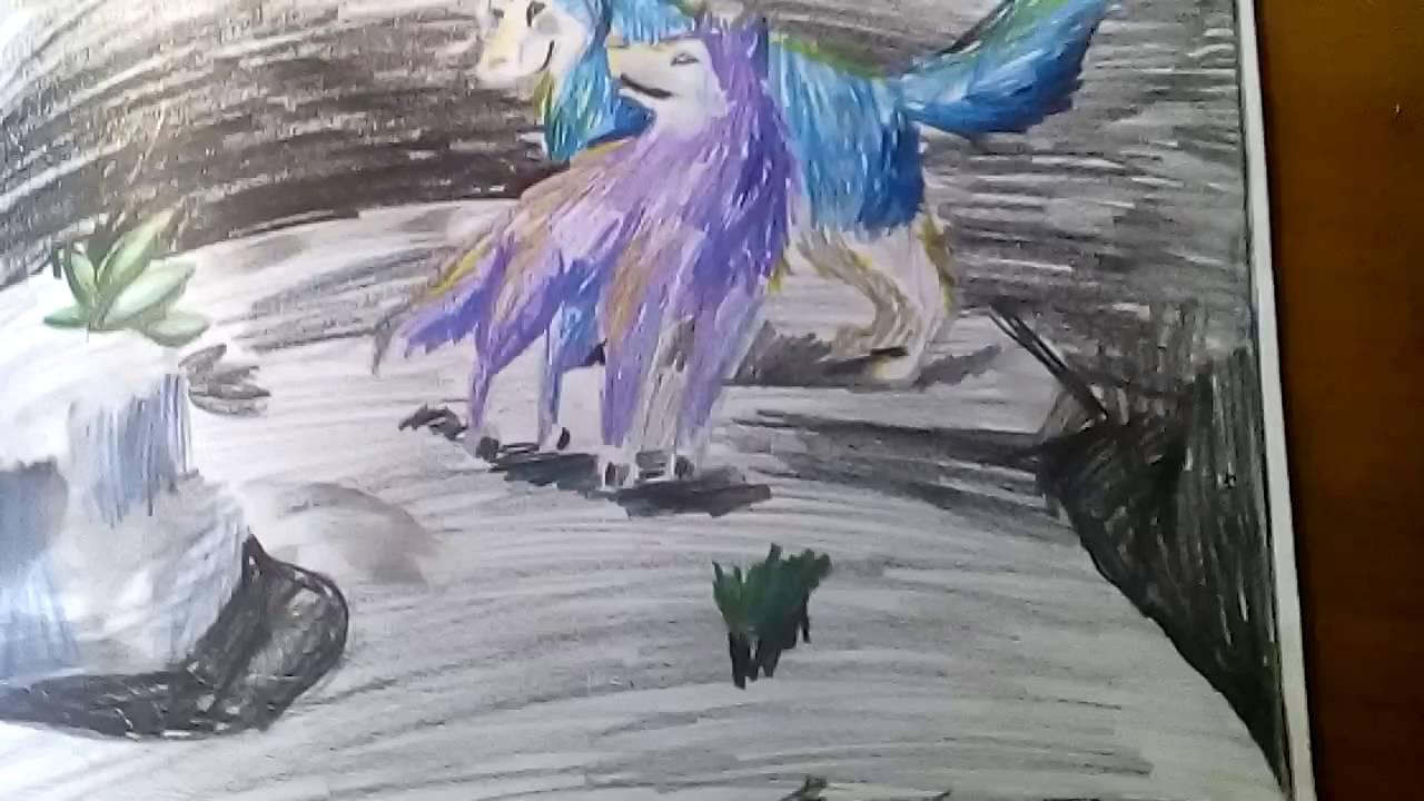 картинки рисунки волки