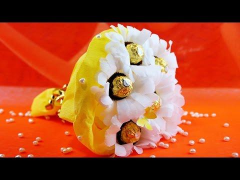 Букет из конфет РОМАШКИ