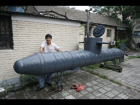 Chinese inventor's home-made submarine