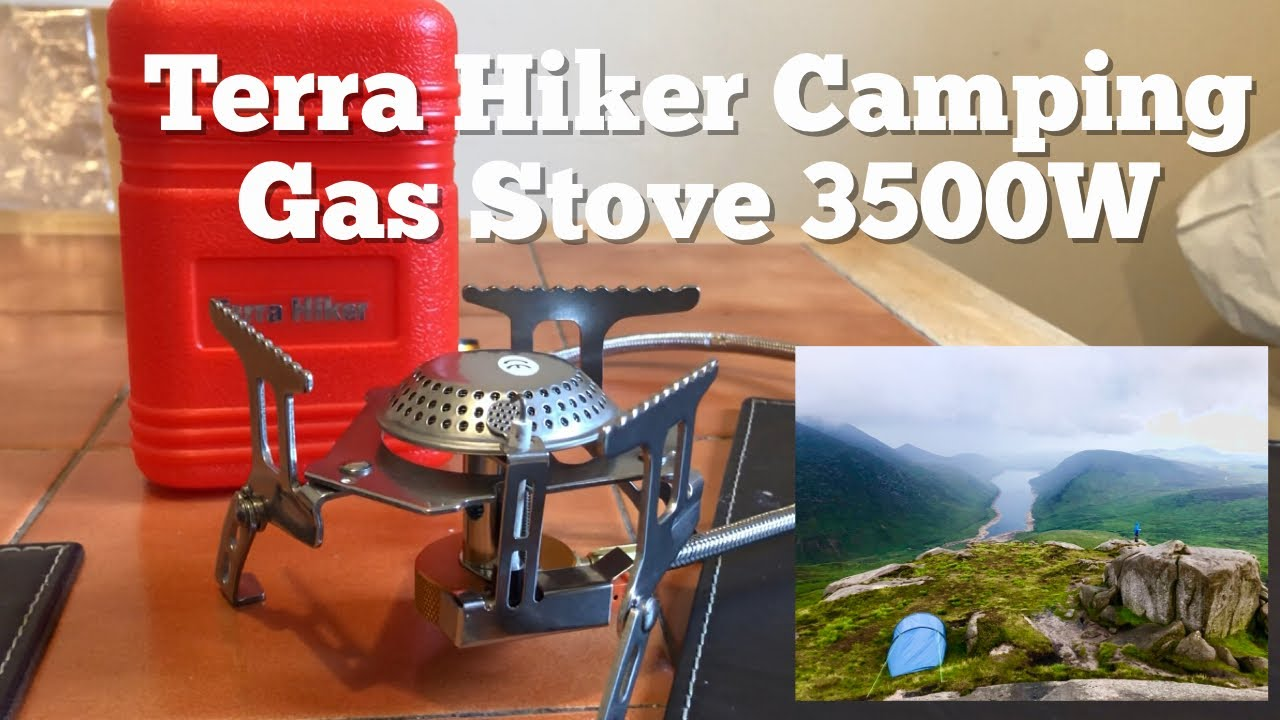Durable Backpack Stove Terra Hiker 3500 W Camping Gas Stove Portable Burner with Carrying Case with Convenient Piezo Ignition