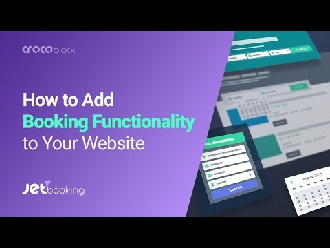 JetBooking For Elementor | Booking Functionality Tutorial