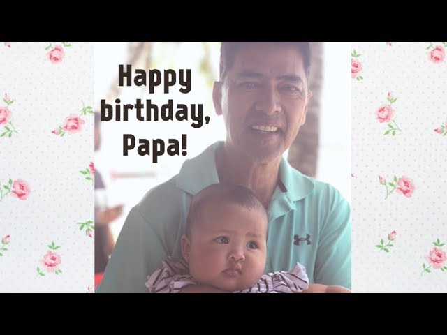 Talis Birthday Greeting for her Papa ????