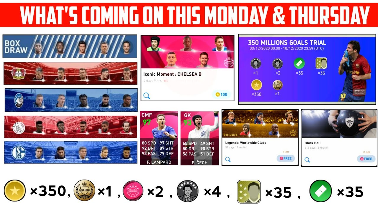 WHAT IS COMING ON THURSDAY | FREE LEGENDS & COINS , ICONIC , BLACK BALL | PES 2021