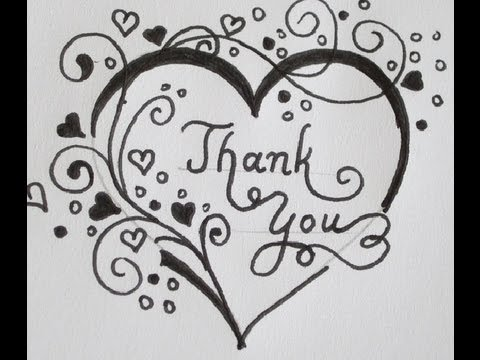 Thank you swirled letters in a heart with flowers how to do it thank you swirled letters in a heart with flowers how to do it youtube ccuart Image collections