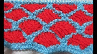 Two  Colour Knitting pattern #17 for Sweater ,Cardigan , cap/स्वेटर/कार्डिगनन की बुनाई