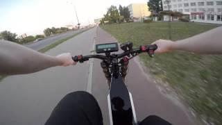Электровелосипед 4000w. Велодорожка. НЕ ПОВТОРЯТЬ!(ВНИМАНИЕ! ДВИГАТЬСЯ ПО ВЕЛОДОРОЖКЕ НА ТАКИХ СКОРОСТЯХ ЗАПРЕЩЕНО! Технические характеристики велосипеда:..., 2015-11-14T01:31:24.000Z)