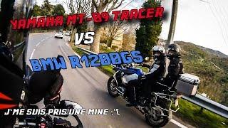 Course Poursuite à Marseille : Yamaha MT-09 Tracer vs BMW R1200GS