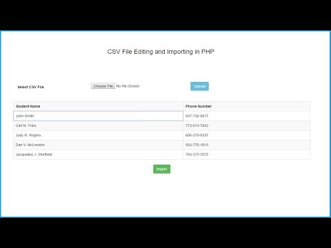 CSV File Editing and Importing in PHP