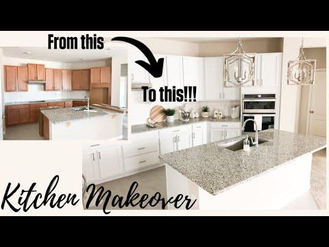 KITCHEN MAKEOVER | AFFORDABLE DIY | GLAM REFRESH