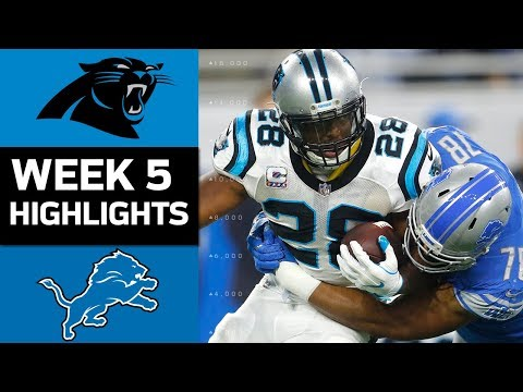 Panthers vs. Lions | NFL Week 5 Game Highlights