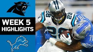 Panthers vs. Lions | NFL Week 5 Game Highlights 2017 Video
