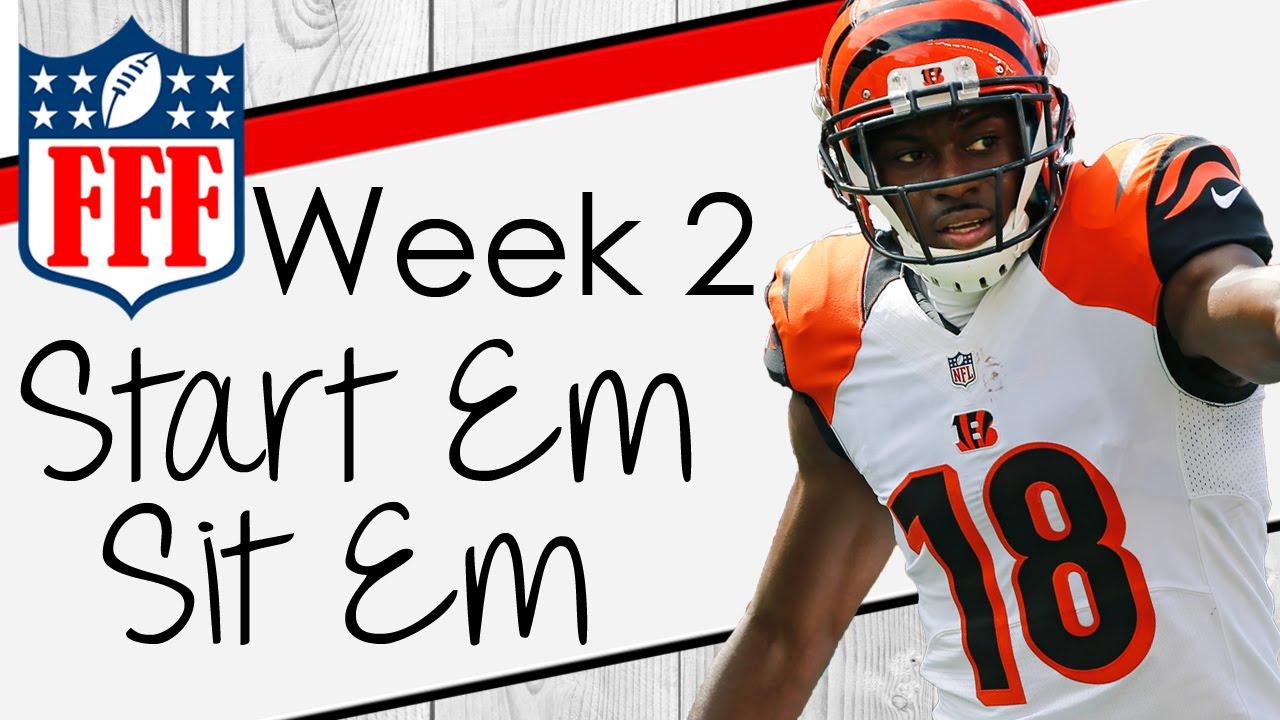 Week 2 Start\'Em Sit\'Em - 2016 Fantasy Football - YouTube