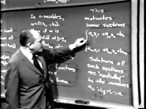 Part IV: Matrix Algebra, Lec 1 | MIT Calculus Revisited: Multivariable Calculus