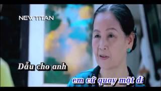 [Karaoke HD] Dẫu Anh Không Nhìn Thấy   Full Beat Gốc   Châu Khải Phong   Newtitan