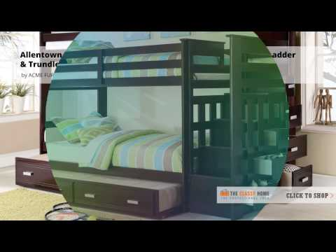 Allentown Twin/ Twin Bunk Bed with Ladder and Trundle Video from Coaster Furniture