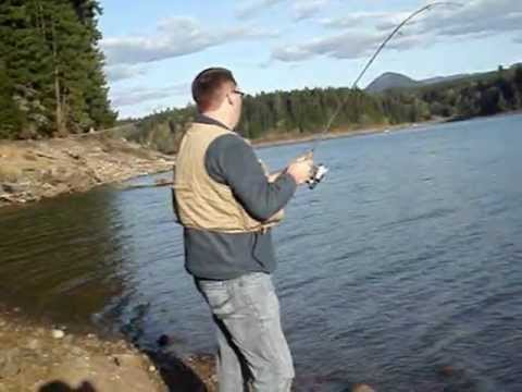 Trout Fishing At Foster Reservoir