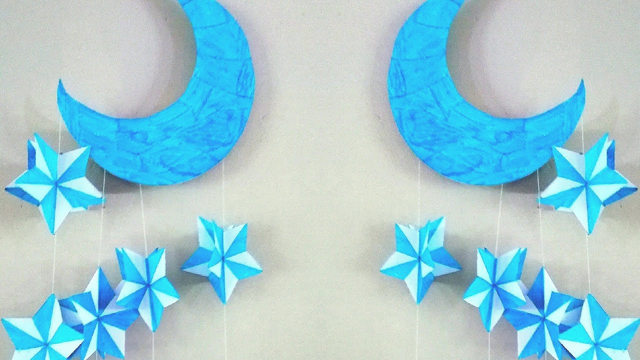 3 Simple Home Decor Ideas From Paper Diy Paper Craft Hand Made Wind Chime Diy Home Decoration
