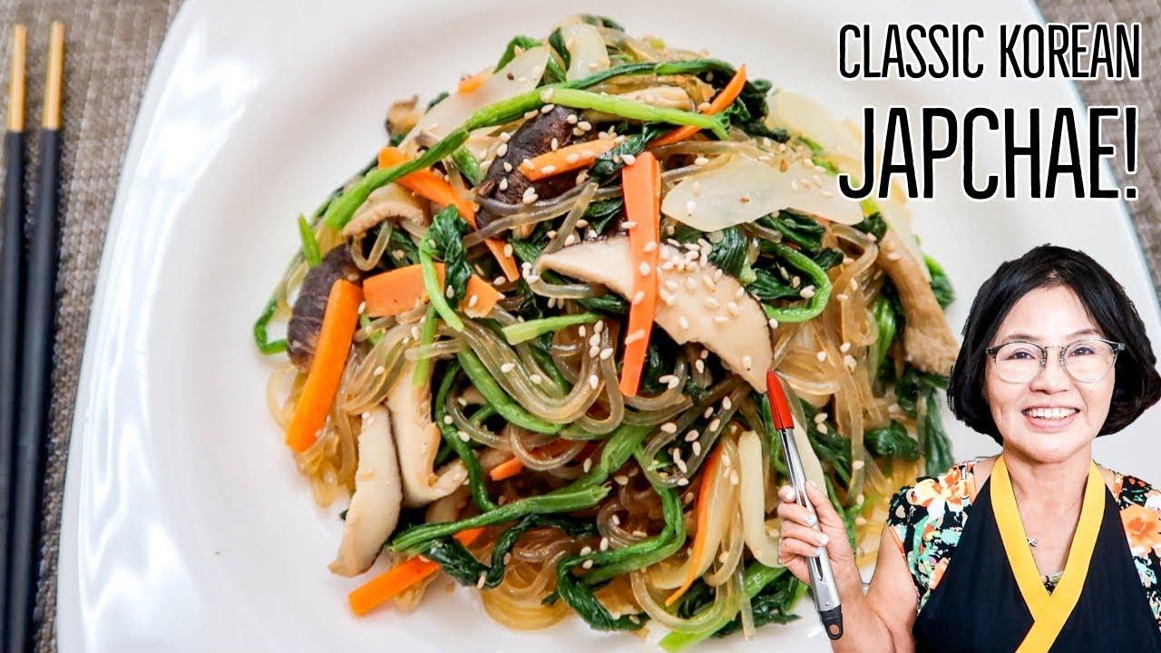 japchae noodle recipe youtube Classic Korean Japchae - An Easier Way!