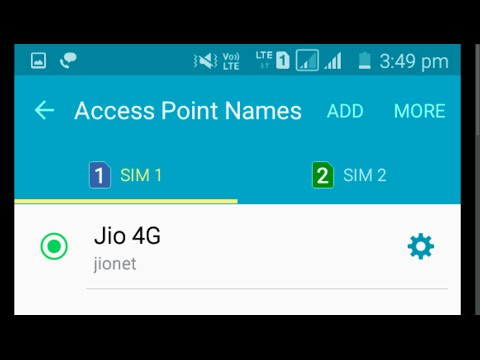 Moto E 2nd Gen Reliance Jio 4G LTE Sim VoLTE Settings