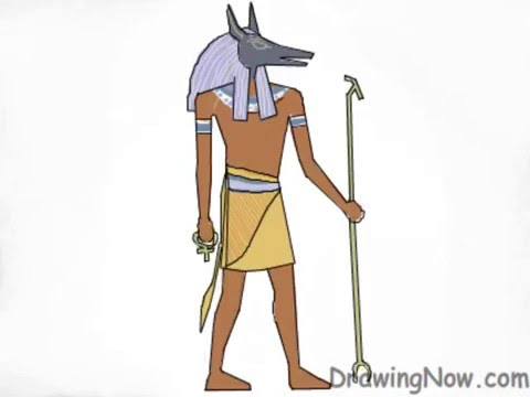 how to draw egyptian gods youtube