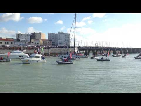 Arrivée Vendée Globe-Nandor Fa 8ème 2017