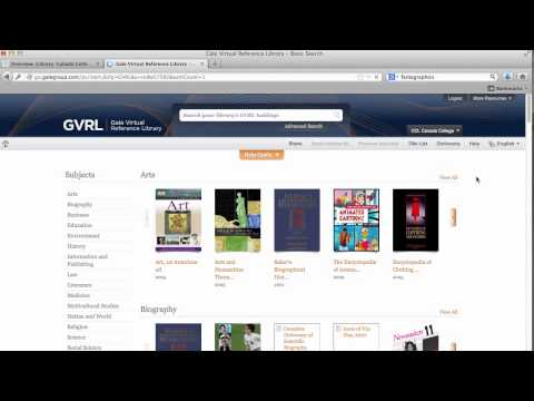 Encyclopedias: Gale Virtual Reference Library