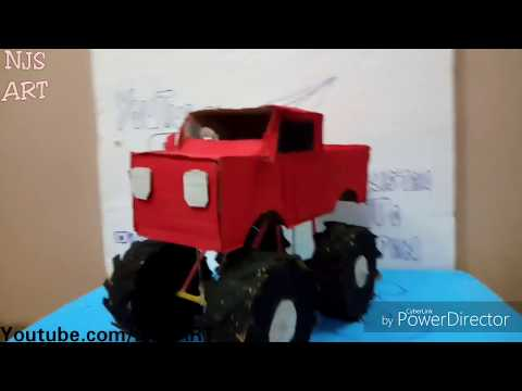Monster truck with cardboard l NJS l